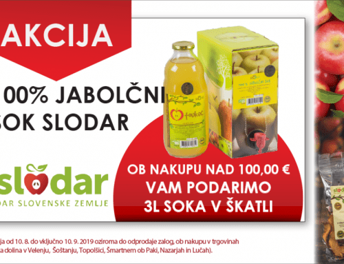 Akcija – Jabolčni sok Slodar GRATIS!