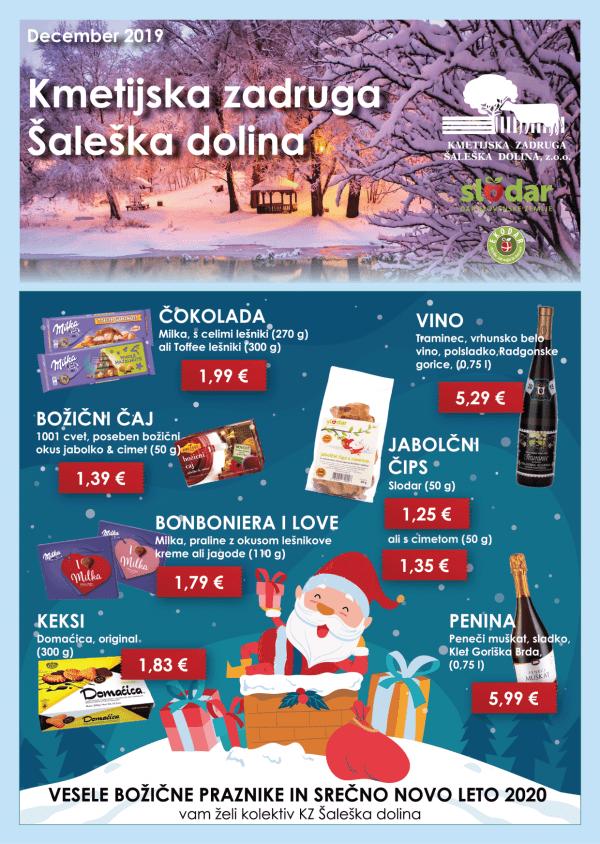 mesečni letak, akcije, ponudba, december, letak, KZ Šaleška dolina