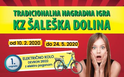 nagradna igra, igra, 2020, KZ Šaleška dolina, kolo, električno kolo, Devron, Terme Olimia