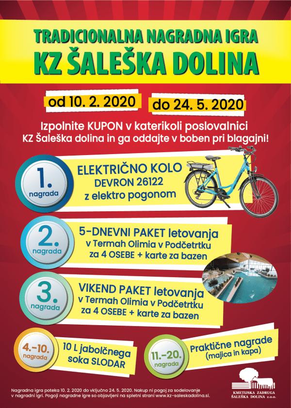 nagradna igra, tradicionalna nagradna igra, KZ Šaleška dolina, kolo, električno kolo, Devron