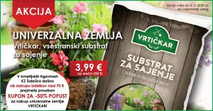 univerzalna zemlja, substrat, zemlja, Vrtičkar, vrtnarjenje, ponudba, zadruga, KZ Šaleška dolina, akcija